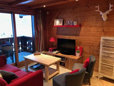 Photo for COSY APARTMENT IN SKI SKI - SWIMMING POOL - SOUTH TERRACE - VILLAGE MERIBEL