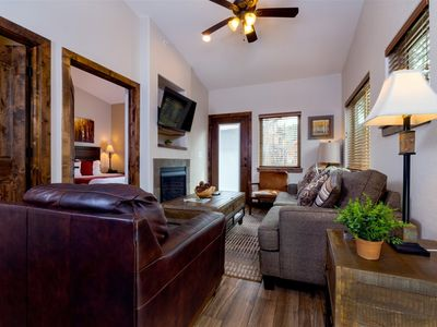 Photo for Cool Riverside Condo. Neighboring fire pits, grills, & Performance Park. Short Walk to Downtown!