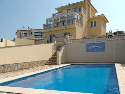 Photo for LARGE VILLA FOR 8 PRIVATE SWIMMING POOL FREE WIFI NEARBY BEACH