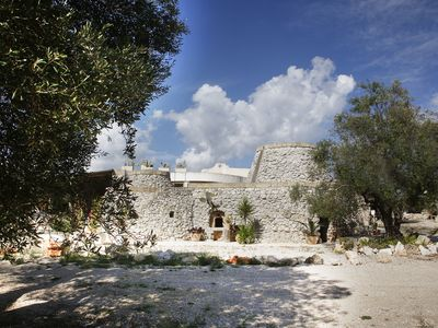 Photo for Salento Puglia.Two villas ,old stone houses, just steps from the white beaches