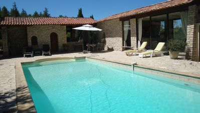 Photo for Stone house with private pool and Jacuzzi LINCEL Luberon
