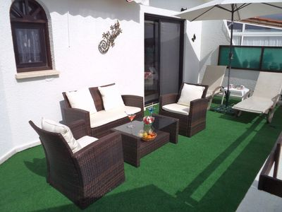 Beautiful furnished terrace with an electric awning & incredible panoramic views