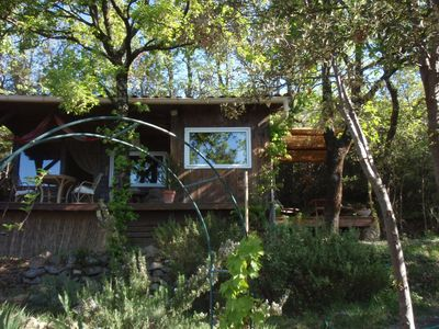 "Photo for ""Hut"" in the Cevennes National Park, Internet 24h / 24, pool."
