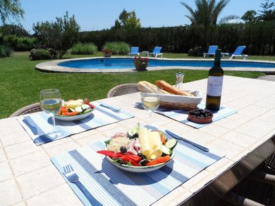 Photo for Villa with Private Pool in Large Private Garden , Free Wi-Fi and Pizza Oven
