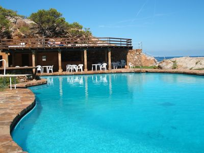 Photo for Spectacular apart. over the sea 30 m2 terrace and private sea water swimming pool salt