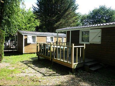 Photo for Camping L'Etang du Pays Blanc *** - Chalet 3 rooms 4/6 people