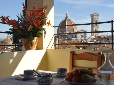 Photo for Amazing and spacious terrace with Duomo's view (sleeps 6 + 2)