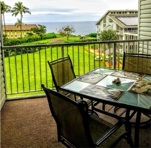 Photo for A condo with an Ocean view at the Cliffs Resort complex in Princeville