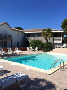 Photo for Duplex with terrace and swimming pool 50m from the Arcachon Basin