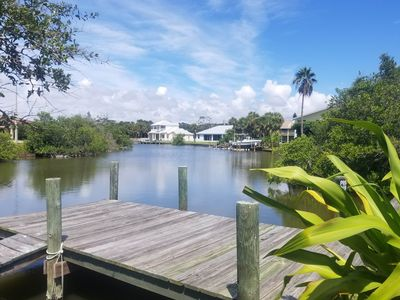Photo for Riverfront home w/dock, 2 kayaks & shared pool/tennis-walk to beach