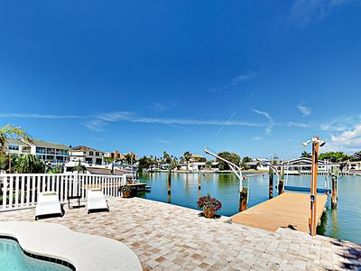 Photo for Canal-Front Tropical Getaway w/ Heated Saltwater Pool & Screened  Patio