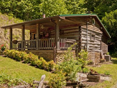 Photo for Discounted Rates! Touch the STARS! at Asheville's Authentic 1890's Log Cabin!