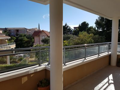 Photo for Charming 2 Room Air Conditioned + Terrace, 400 m Port and Center