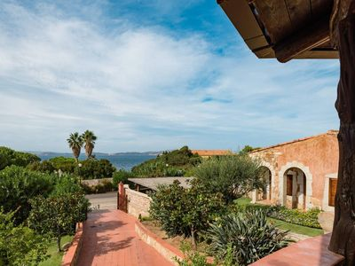 Photo for Seaview independent villa for 6/8 pax in Baia Sardinia - 500 mts from the beach and the centre