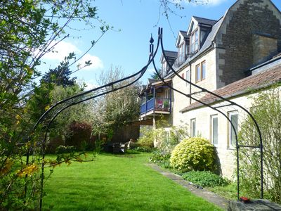 Photo for 5 star Charming Riverside accommodation  sleeping 8 and10mins from Bath Centre