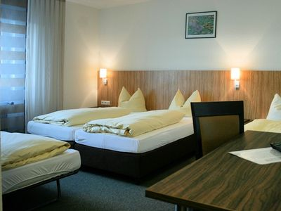 Photo for Quadruple room with toilet and shower - sports and conference hotel Kenzingen
