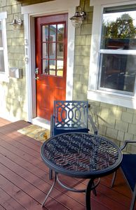 Deck and West-facing entrance to the 319 Almond Street Garden Apartment