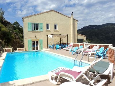 "Photo for Villa in Corsica 18 pers Swimming pool, GR20 40 ""Sea: Propriano 25"" Bonifacio"