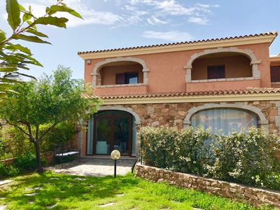 """Photo for Beautiful Holiday Home """"Villetta Il Corallo"""" with Sea View, Air Conditioning, Balcony, Garden & Terrace; Parking Available; Pets Allowed"""