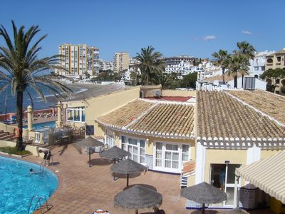 Photo for Third floor Spacious beach side apartment on secure site with sea views.