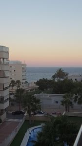 Photo for Luminous apartment, sea views and with direct access to the beach in two minutes.