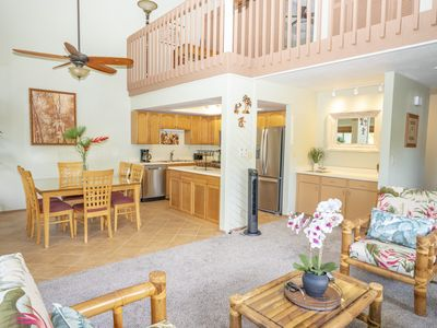 Photo for Great Reviews! Walk to Beach! Princeville Island Style Townhome - Free Wi-Fi