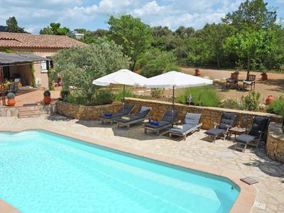 Photo for Grandstand view of the Verdon from this villa with private pool in Aups