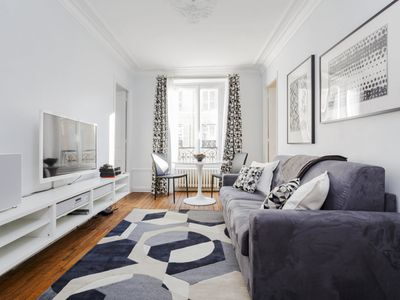 Photo for Modern and Stylish Two-Bedroom Flat, 1 Minute from River Seine and St.Germain