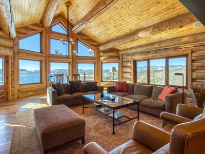 Photo for NEW LISTING! Luxury hillside home w/ home theater & Lake Granby view