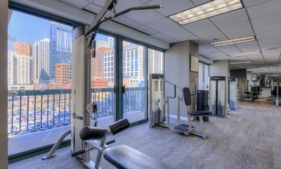 Light and bright fitness area