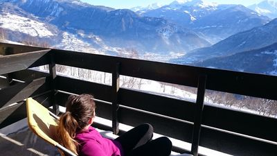 Photo for Quiet with a beautiful panoramic view at the foot of the slopes of the Domaine Valmorel siable