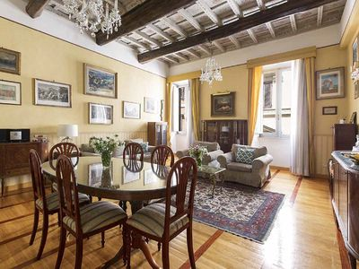 Photo for Piazza di Spagna Splendid apartment with 3 bedrooms, decorated ceilings
