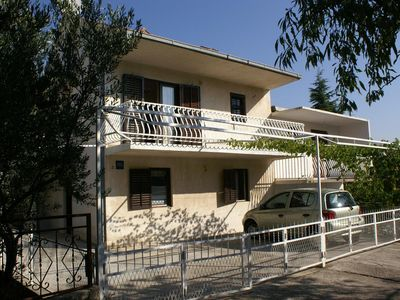 Photo for Two bedroom apartment with balcony and sea view Seget Vranjica (Trogir)