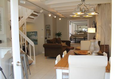 Main Living Area - newly remodeled in a classic and comfortable beach style.