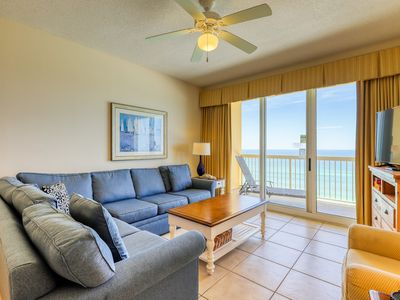 Photo for Warm & welcoming waterfront condo w/ a furnished balcony, gym, & shared pools