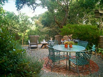 Private and secluded outdoor dining area with views. Perfect for an evening BBQ!