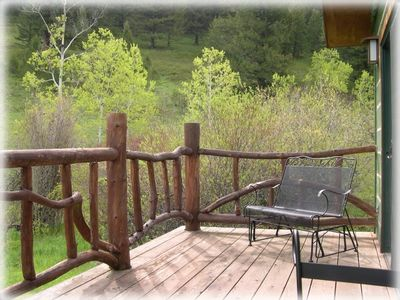 A great deck to take in the views.
