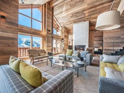 Photo for Aspen Lodge 61 : Huge living room with view on the mountain