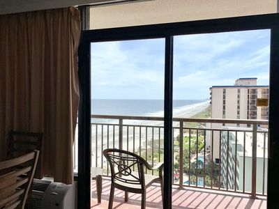 Photo for 14th Floor Renovated, STUNNING VIEW, KING Bed, Pools, Hot Tubs, Lazy River