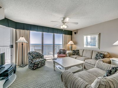 Photo for Crescent Shores 1212, 4 Bedroom Beachfront Condo, Hot Tub and Free Wi-Fi!