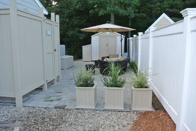 Outdoor Shower and Patio Area