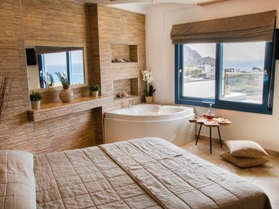 Photo for Arkasa Palace Boutique Hotel - Superior Suite Sea View Private Pool & Jetted Tub