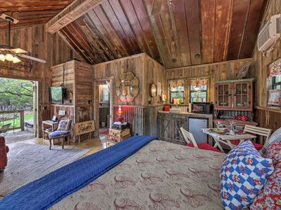 Photo for NEW! 'Snuggle Inn' Wimberley Cabin w/Fire Pit+Deck