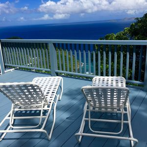 Relax on the panoramic ocean view deck!