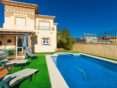 Photo for 5 bedroom Villa, sleeps 8 with Air Con, FREE WiFi and Walk to Beach & Shops