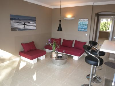 Photo for Top location with sea view and pool, tennis, WIFI, everything within walking distance