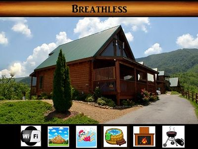 Photo for Breathless} Gorgeous Mountain Views \ Hot Tub \ Pool Access \ Fireplace