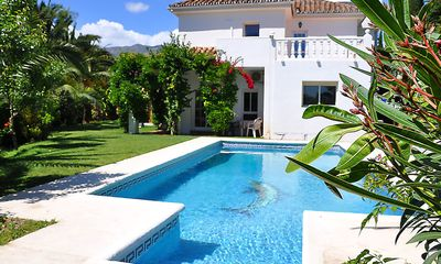 Photo for 7 bedroom Villa, sleeps 18 with Pool, Air Con, FREE WiFi and Walk to Shops