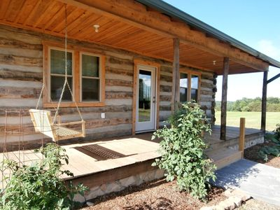 Photo for Handmade Private Log Cabin On 60 Acres
