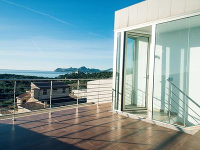 Photo for Dream holiday home Cuba Roja 4 in Cala Ratjada in Mallorca with sea views and gem. Pool.